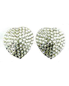 Kitty Starlight crystal heart nipple pasties