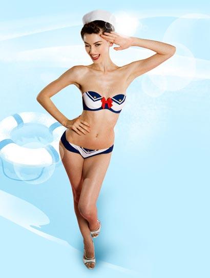 Agent Provocateur Swimwear Naval Bikini