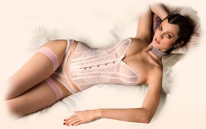 Agent Provocateur Sheer Kate Corset Bridal