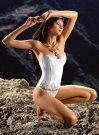 Jennifer Lamiraqui Valisere White Basque Bridal