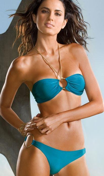 Vitamin A Deep Sea Shimmer brigitte underwired bandeau and bikini bottom