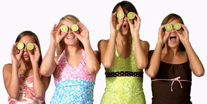 Lime Ricki Swimwear for youngsters