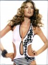 Doutzen Kroes Zeki Triko One-Piece Black White