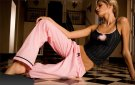 ea Lingerie Loungewear pink pants and camisole