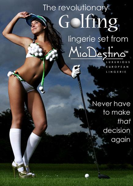 golfing lingerie set Mio Destino
