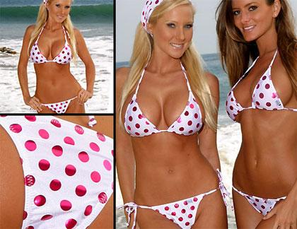 Polka Dot Beach Bikini Malibu Strings