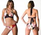 Aerin Rose Banded Halter Bikini Top - Geisha