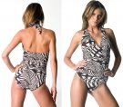 Shirred halter one-piece - Madagascar Aerin Rose