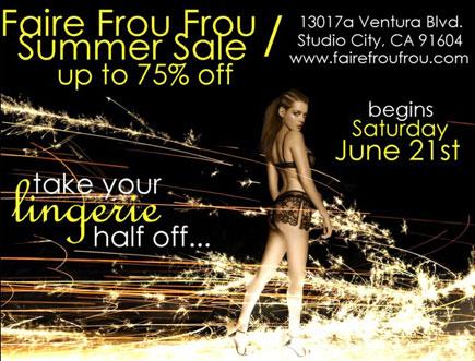 Faire Frou Frou Summer Recession Sale