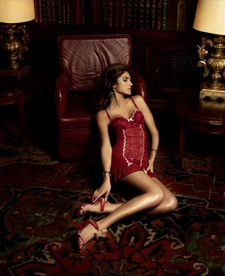 Juliana Martins Lingerie Red Lace Chemise