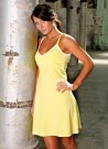Pickles and Loop Basic nightie -yellow with white trim