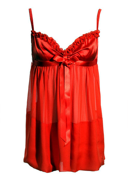 Bow front chemise FIFI CHACHNIL