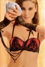 Ravage Eclatante lingerie red embroidered bra