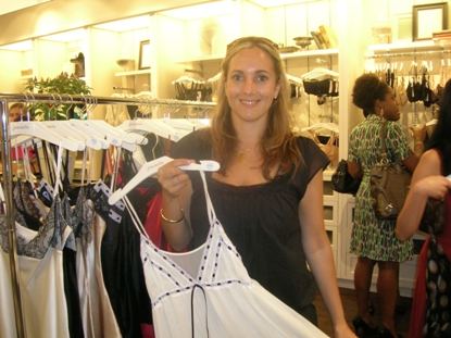 Designer Nicky Adamo at Julianne Trunk Show