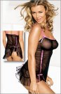 Frederick's Ruched Mesh Chemise
