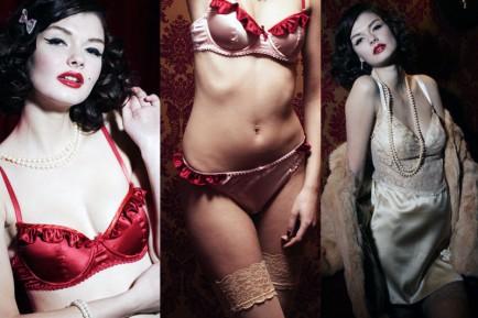elegantly scant lingerie