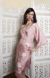 East Village Silk Kimono Wrap Rose