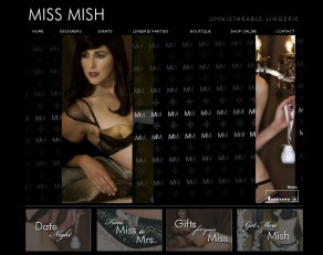 The new Miss Mish lingerie site...