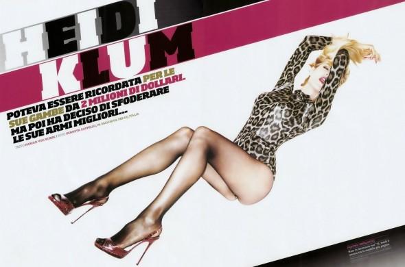 Agent Provocateur Iona bodysuit on Heidi Klum