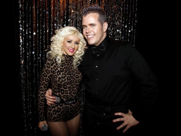 Agent Provocateur Iona bodysuit on Christina Aguilera