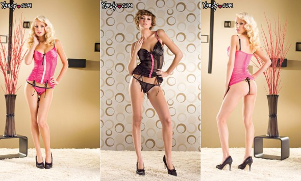 Seven Til Midnight Satin-cup Chemise and Thong Set