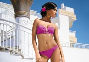 Meriell Club Pink Bandeau Bikini