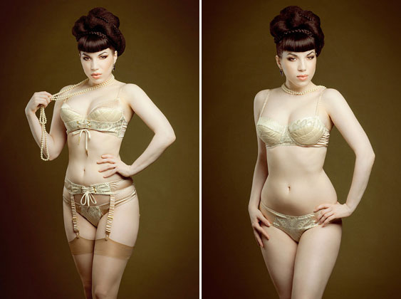 Waistcoated bra, suspender belt and knickers by Maxine of London