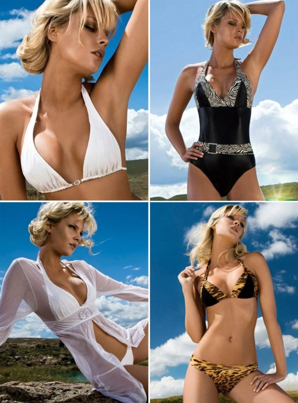 ëa Lingerie Swimwear Soleil Collection 2009 Collage