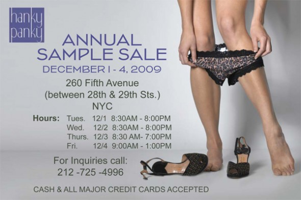 Hanky Panky Sample Sale