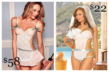 Looks for Less Apron Bridal Babydoll