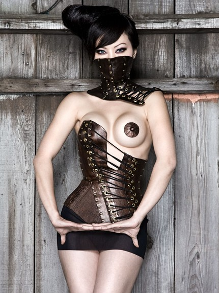 Hypsipyle Leather Corset by Antiseptic Fashion