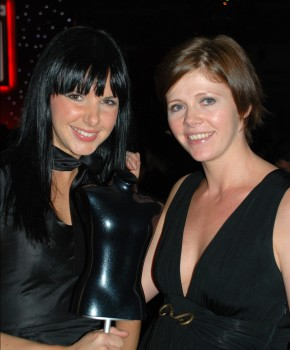 Clare (left) & Fiona with the award