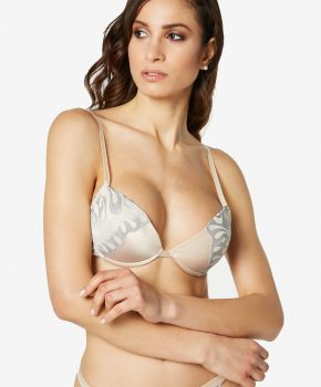 Push-up embroidered bra Wave