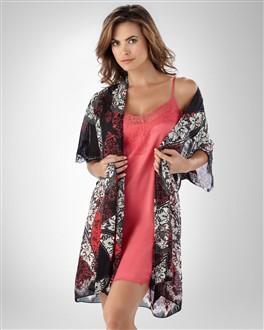 Soma Sensual Printed Short Robe